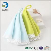 Cheap wholesale bathroom drying custom size microfiber baby hand towels in bulk