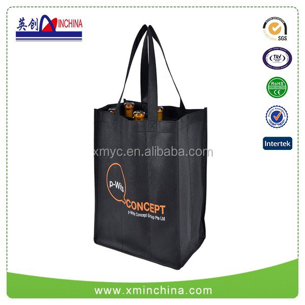 Favorites Compare Non-woven Six Bottles Wine Shopping Bag