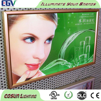Customized high brightness snap open aluminum light box frame for sale promotion specialty advertising
