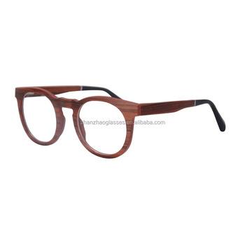 design optical frame round wood glasses frame wholesale eyeglasses frame fashion women men prescription optical frame - Wood Eyeglass Frames