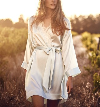 3ccdf0ff7a Wholesale Oem White Bride Women Satin Silk Kimono Robes - Buy ...