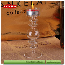 New launched design handmade soft cone shaped glass candle holder