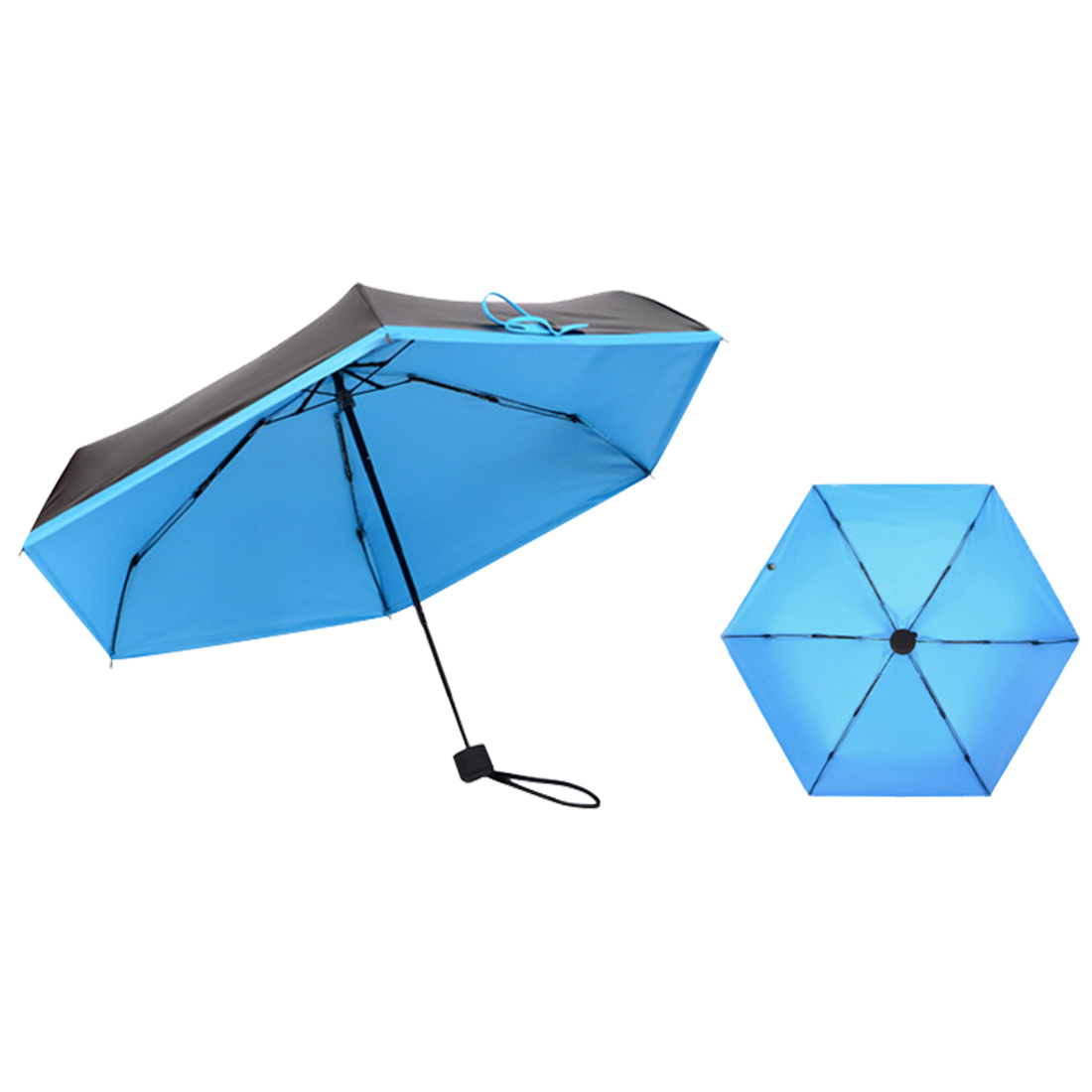 Factory wholesale 5 folding mini inverted manual 90cm 6k double layer sun women reverse umbrellas