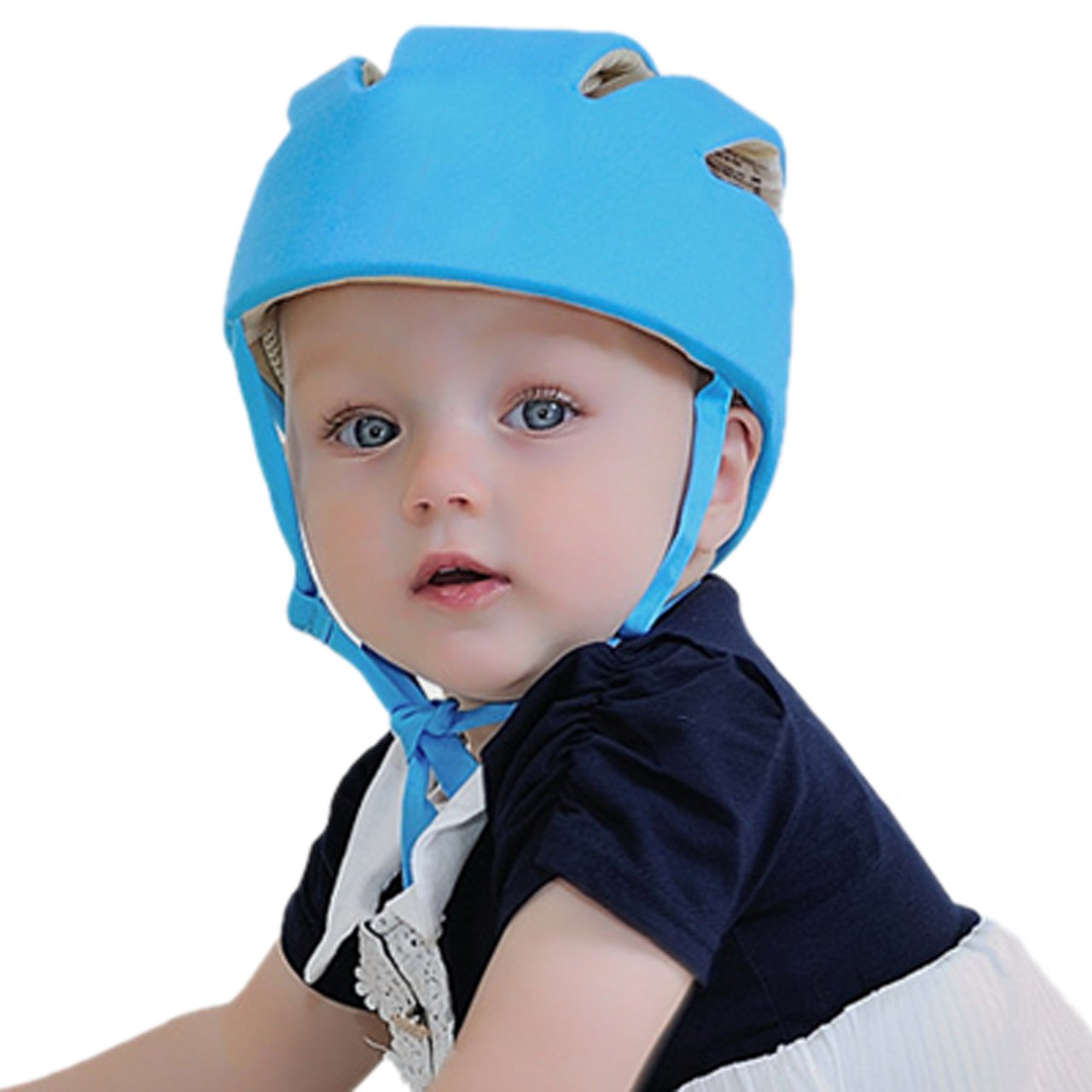 Infant Baby Toddler Safety Helmet Kids Head Protection Hat for Walking Play Blue