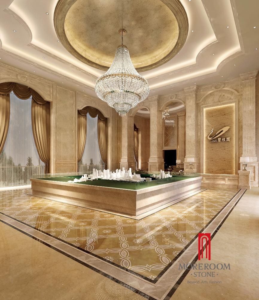 glasierte spanisch beige marmor badezimmer fliesen-pozellan, Badezimmer