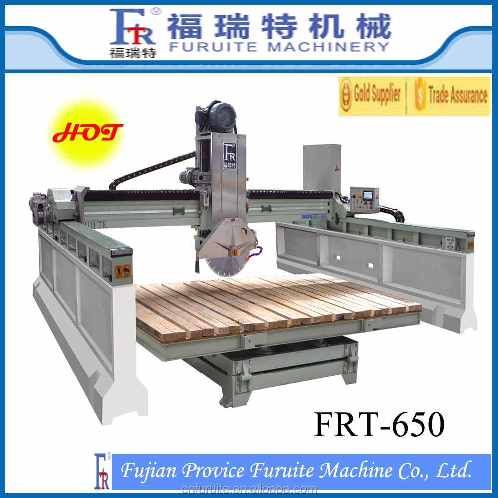 FRT-650 infrared bridge type gtanite cutting machine,marble cutting machine price.