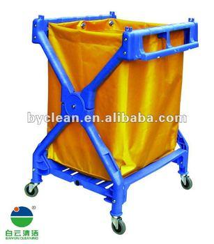 X Shape Plastic Hotel Laundry Cart