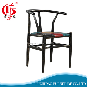Y design brown iron steel stacking chair for dining