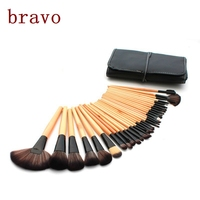 China manufacturers factory shenzhen cosmetic brush maquillaje wood handle cheap makeup 32 piece set brush