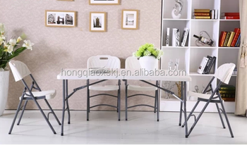 Living Room Furniture White Plastic Folding Table And Chairs Dining Portable Camping