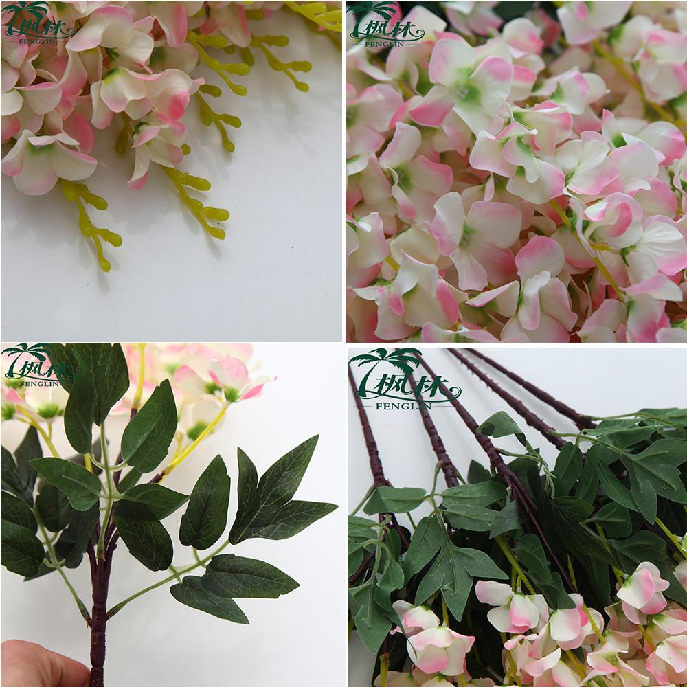 New Silk Artificial Flower Wedding Decoration 5 Pieces Heads