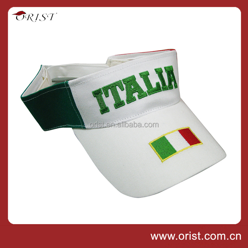 Wholesale High Quality Customized Logo embroidered Sun Visor Hat
