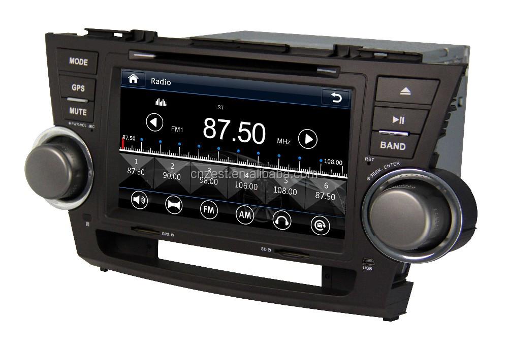 auto radio multimedia car entertainment system for toyota highlander 2008 2014 car dvd player. Black Bedroom Furniture Sets. Home Design Ideas