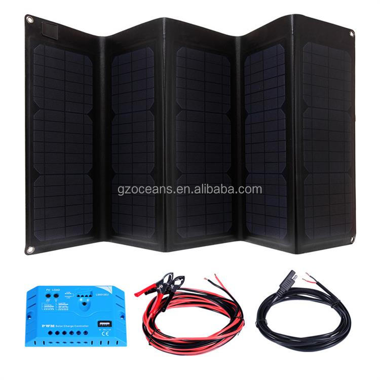 Folding solar panel in solar cells foldable solar charger high efficiency cells green power for home and office use 50W micro ad