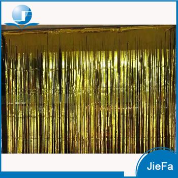 15cm50cm Popular Metallic Door DecorationTinsel Curtains Party Decoration Foil Gold Shimmer