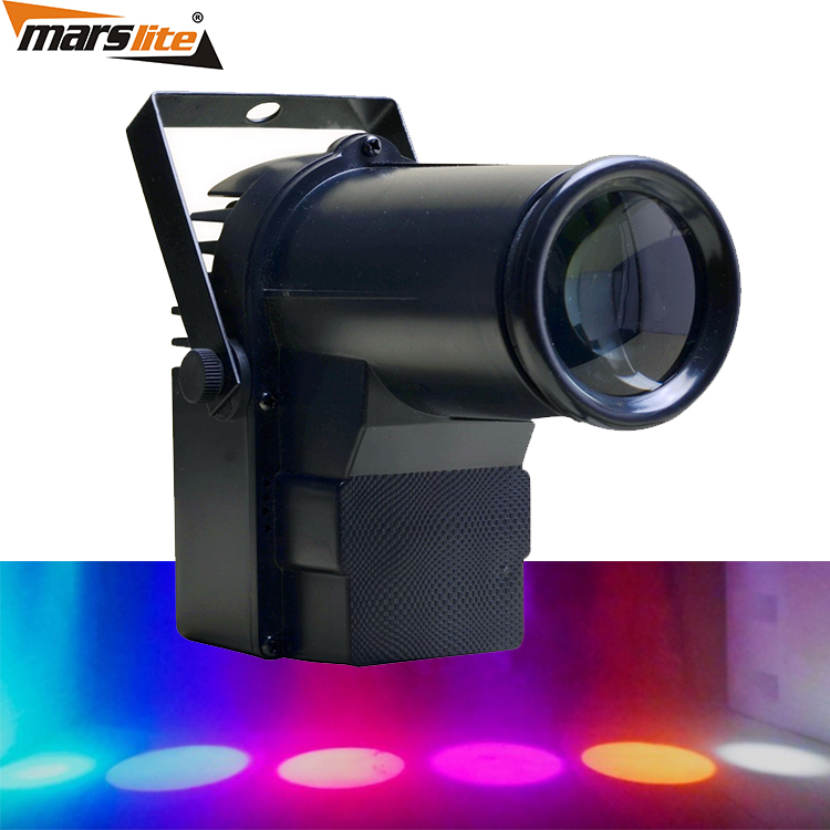DMX RGB 3in1 LED pin spot light / Disco led mini pin spot Light