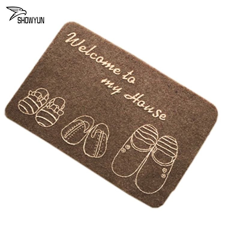Machine Made Modern Design Printed Bath Mat Anti-slip TPR Door Mat For Entrance From China