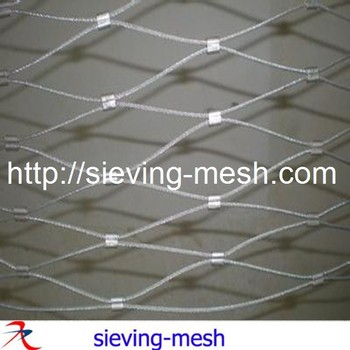 Flexible Stainless Wire Mesh For Balustrade, Security And Wall Gardens