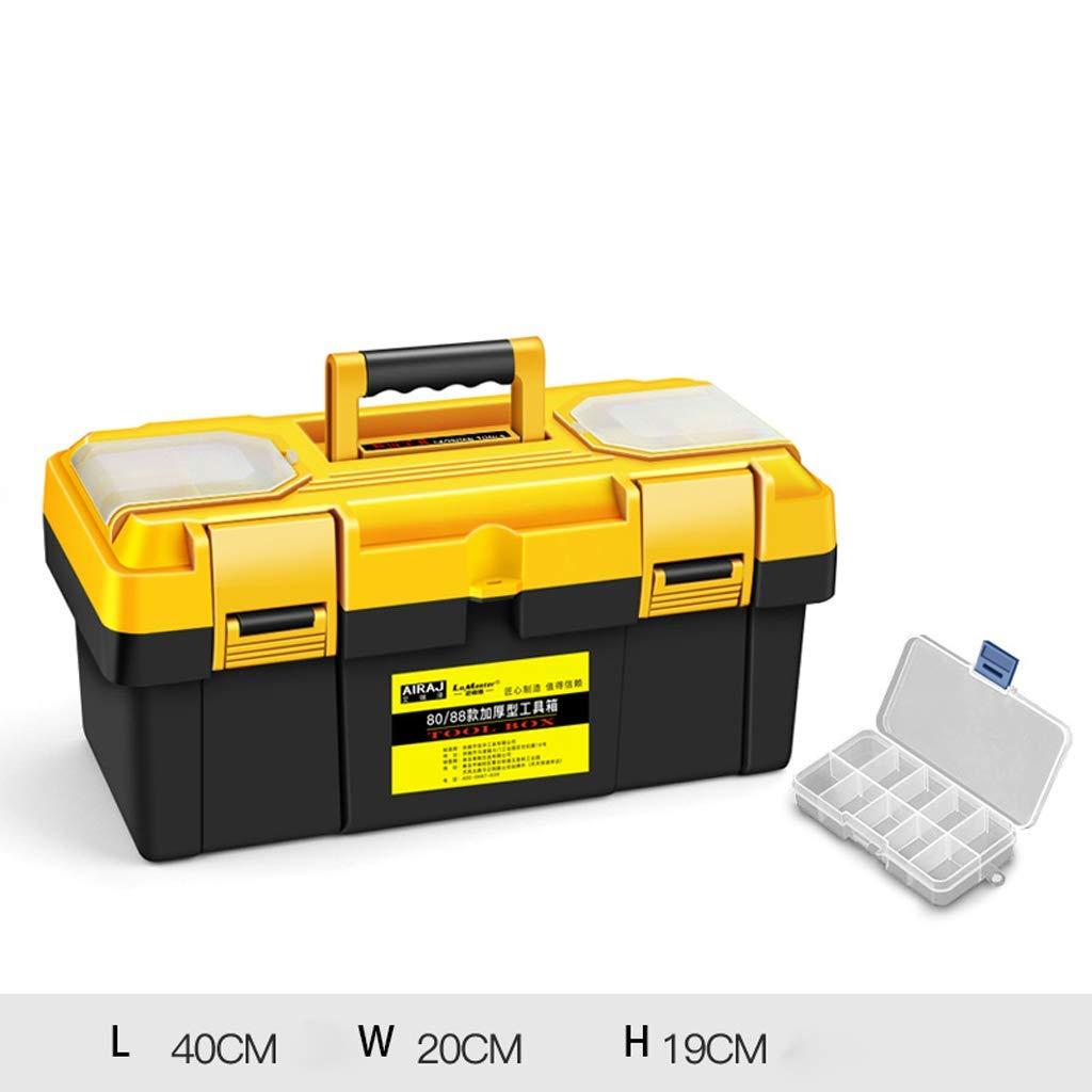 "Tool Boxes | Portable Tool Box Storage 12.5"" 14"" 17"" 20"" 23"" Small/Medium/Large, 1PCS (Size : L40W20H19cm)"