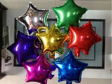 20pcs Lot Sta Foil Balloons 10inch Star Shaped Helium Baloon For Wedding Party Supplies Air Baloes