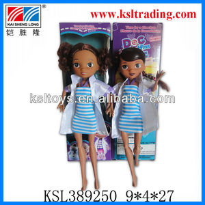 "9.5"" plastic fashion black doll for children"