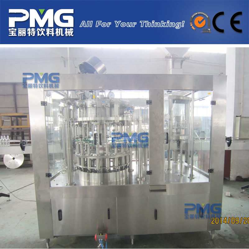 PMG-DCGF18-18-6 3-in-1 small production carbonated drink filling machine / aerated water filling machine