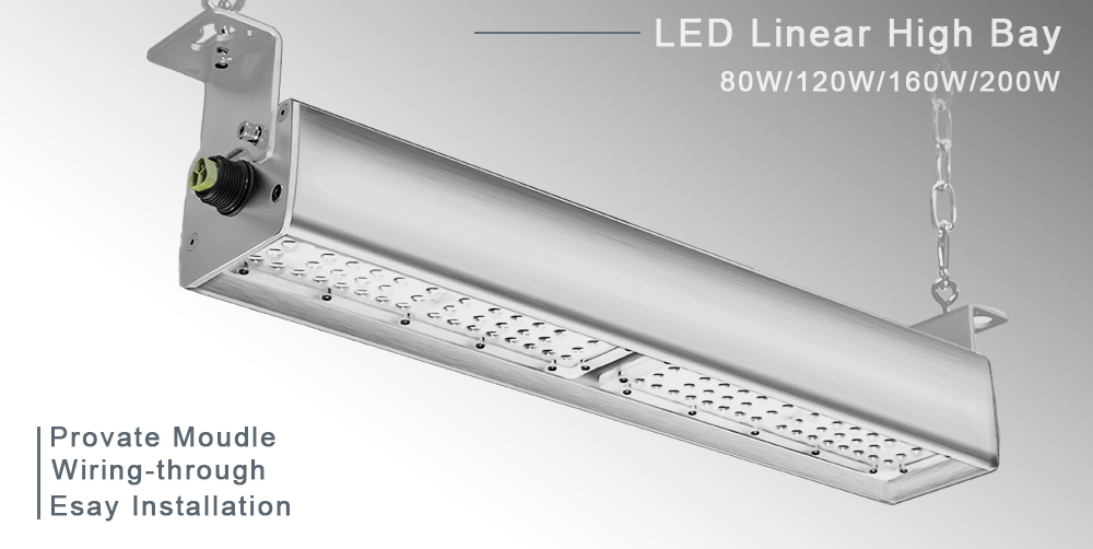 80W 120W 160W 200W 135lm/w Lumileds 3030 LED MeanWell Driver led linear high bay