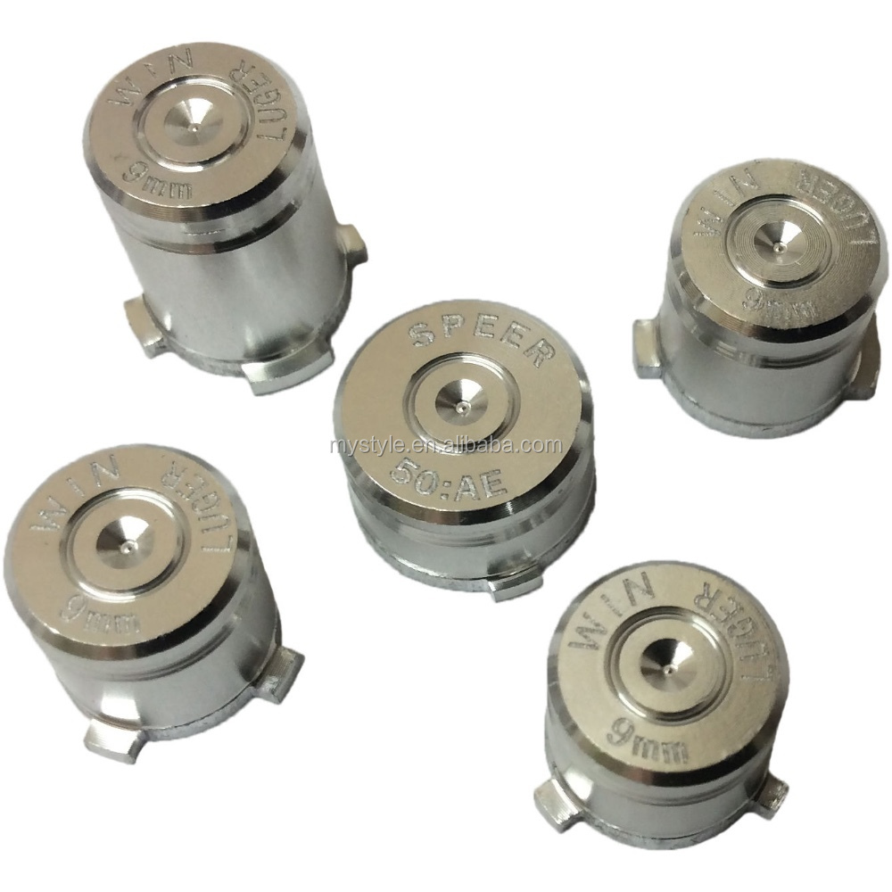 Aluminum Metal Bullet Buttons 5pcs Set Replacement Parts For Controller  Xbox One Controller - Buy Bullet Buttons Set For Xbox One  Controller,Aluminium
