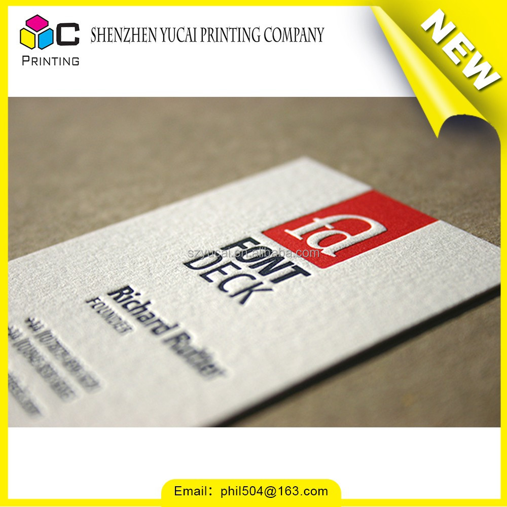 Silk screen embossing business card site