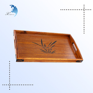 2017 latest wooden serving bamboo tea tray luxury on table food tray