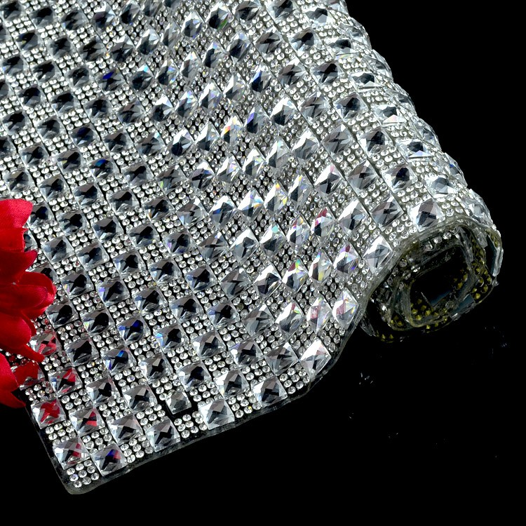 China Hotfix epoxy and resin stones sheet mesh, friendly epoxy rhinestone trimming for DIY decoration