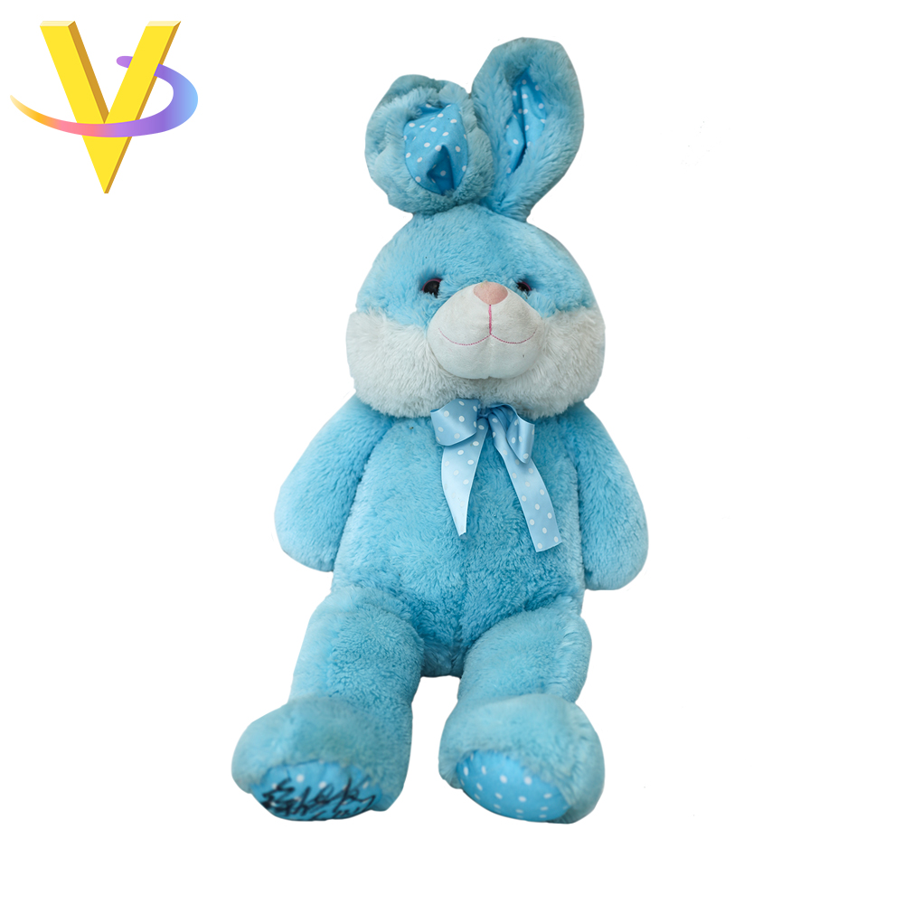2018 Cheap Lovely Blue Plush Bunny Rabbit Toy