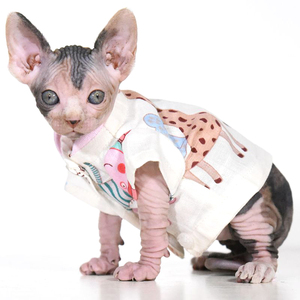 Fancy dedicated sphynx baby kitten clothes fashion cotton cat shirts for  new born