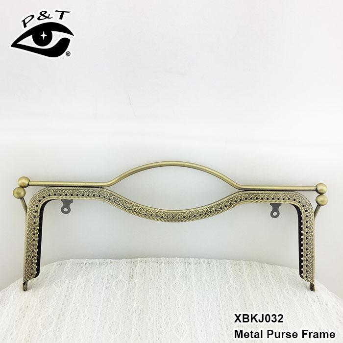 27 cm labio diseño m forma en relieve metal estilo antiguo embrague ...