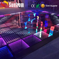 Wedding Club stage waterproof Led 3d Optical Illusions Led Mirror Led Dance Floor