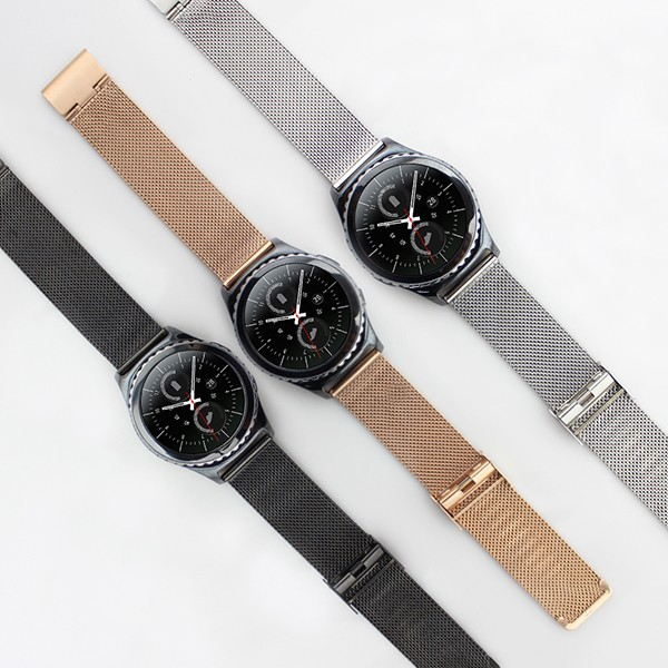 Stainless Steel Mesh Watch Band Strap for Samsung Gear S2