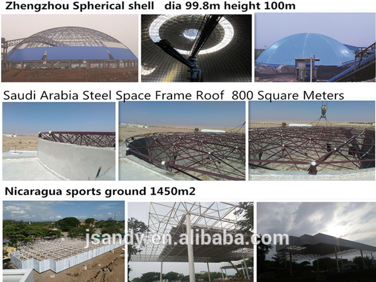 Industrial Price Curved Roof in Steel Structure structural roofing Widespan Coal Storage shed