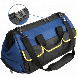 Heavy Duty Trolley Rolling Tool Bag with Openning Mouth