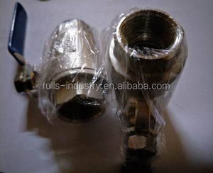 2-pc female thread ball valve full bore 2000 PSI