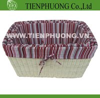 storage rattan basket with fabric liner