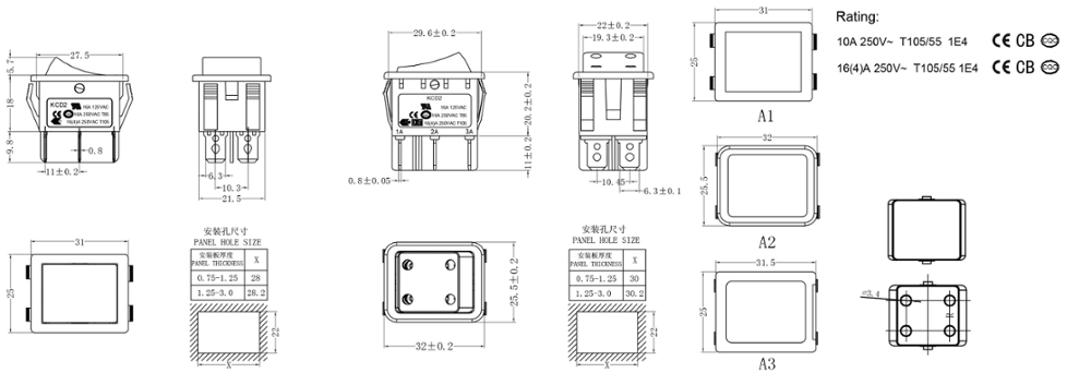 hana 4 pins t105 55 kcd2 rocker switch wiring diagram buy rocker switch wiring diagram,led rocker switch,rocker switch labels product on alibaba com Wiring Lighted Doorbell Button