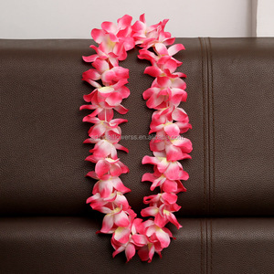 Colorful Silk Lei In Brilliant Colors Freshed Flower Leis Freshed Hawaiian Leis