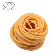 Elastic extruded colored 10mm dipped tubing fitness medical double resistance tube natural rubber latex for sale