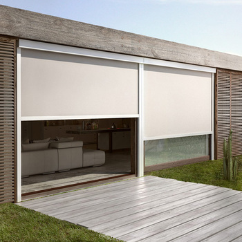 Strong Windproof Outdoor Roller Blind With Side Channels