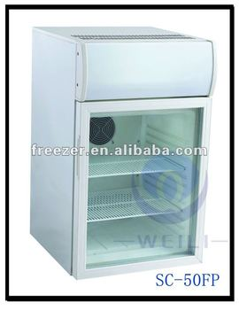 Custom Glass Door Counter Top Display Fridge Used Beverage