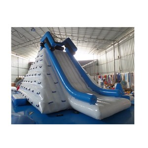 Top grade floating slide water inflatable iceberg climbing toys/inflatable iceberg water games