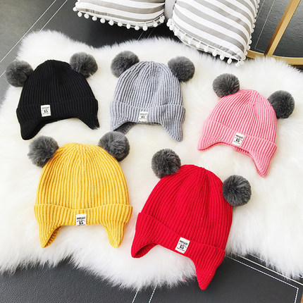 Cute Animal Hat With Hood Scarf Hats Caps Winter Warm Plush Beanies For Kids