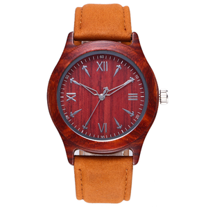 Wholesale watch parts wooden wrist hand watch for business men