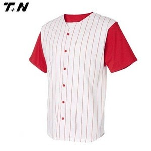 OEM cheap wholesale custom short sleeve blank pinstripe baseball jerseys