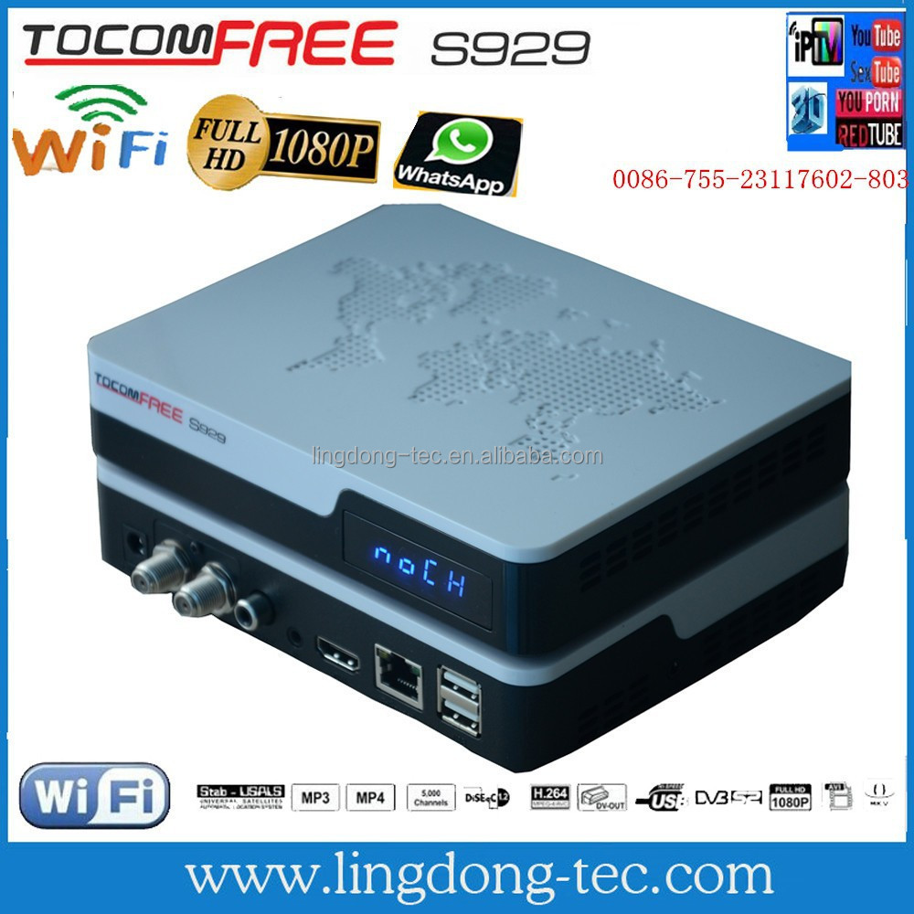 satelite internet receiver hot sell digital tv receiver S929 tocomfree
